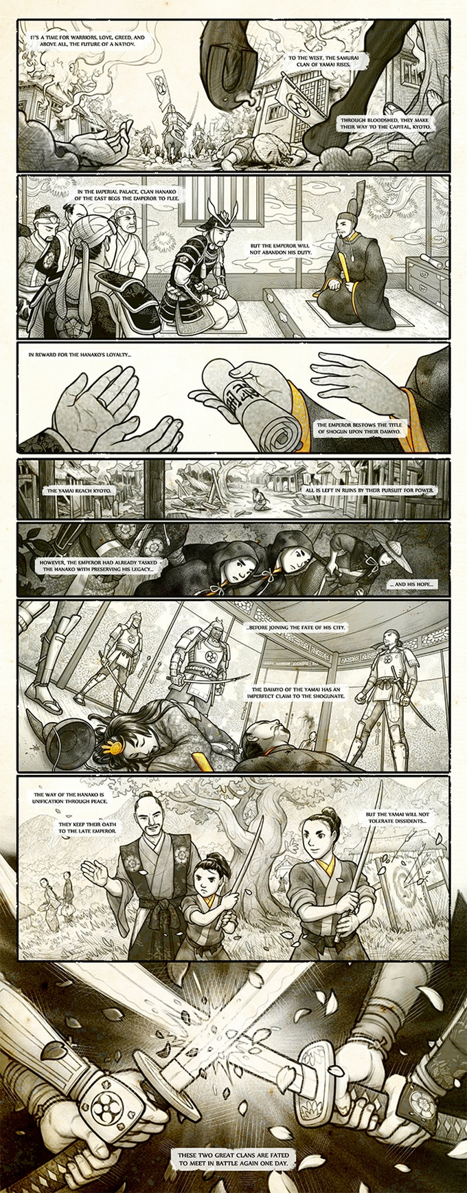 Hanako Lore Comic Strip